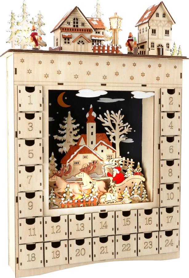 der holzmichelshop adventskalender aus holz wintertraum. Black Bedroom Furniture Sets. Home Design Ideas