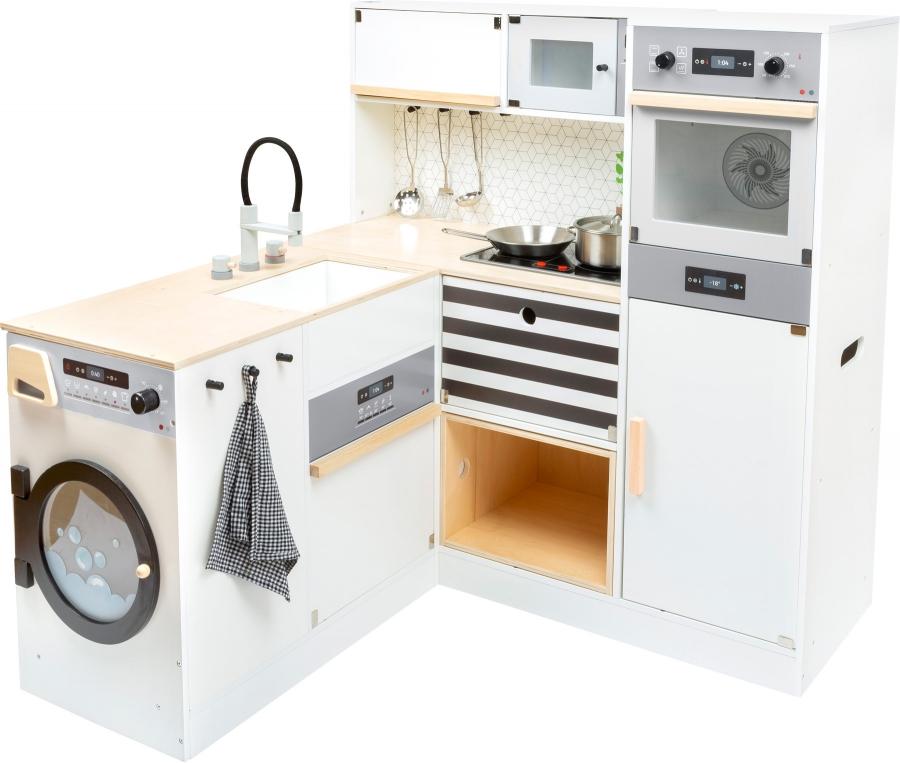 Transformation possibilité Cuisine pour enfants modulaire XL moderne jeu cuisine avec de nombreux appareils